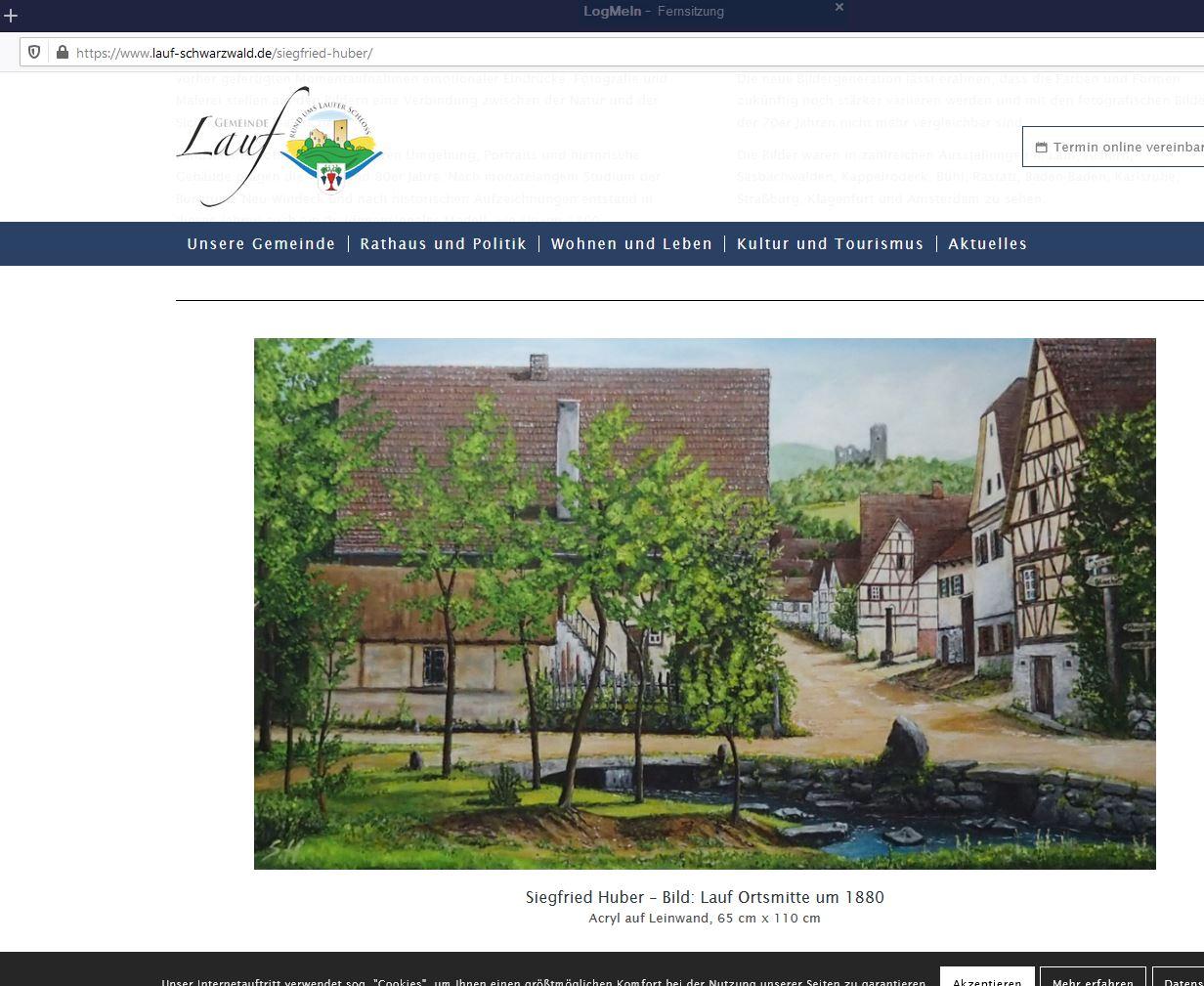 """Gemeinde Lauf ermöglicht """"Vernissage online"""""""