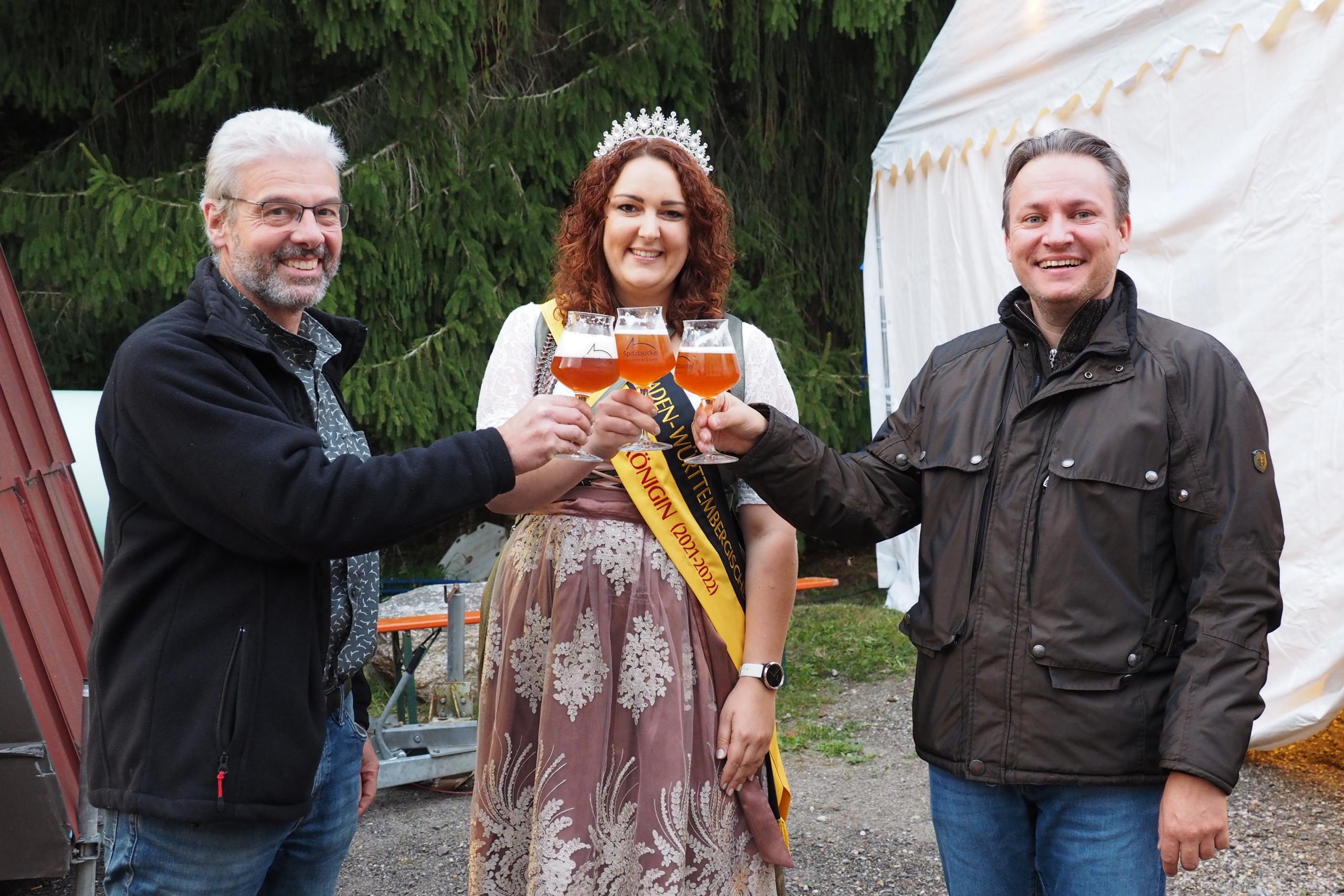 Bierkönigin besucht Lauf