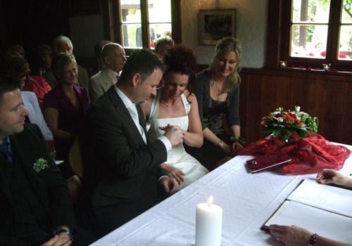 Foto: Trauung (Brautpaar) in der Alten Trotte in Lauf