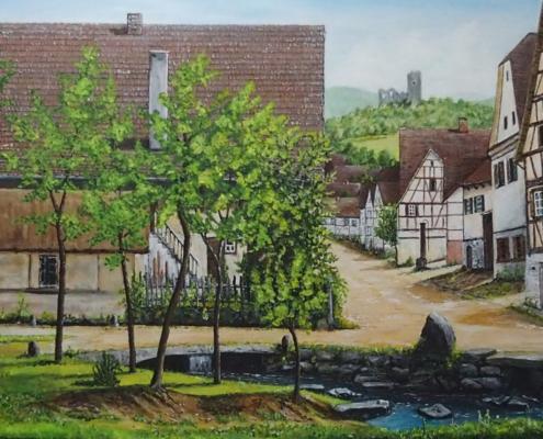 Siegfried Huber - Bild: Lauf Ortsmitte um 1880