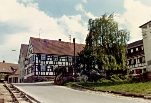 Foto: Historisches Bild einer Laufer Straße (farbig)