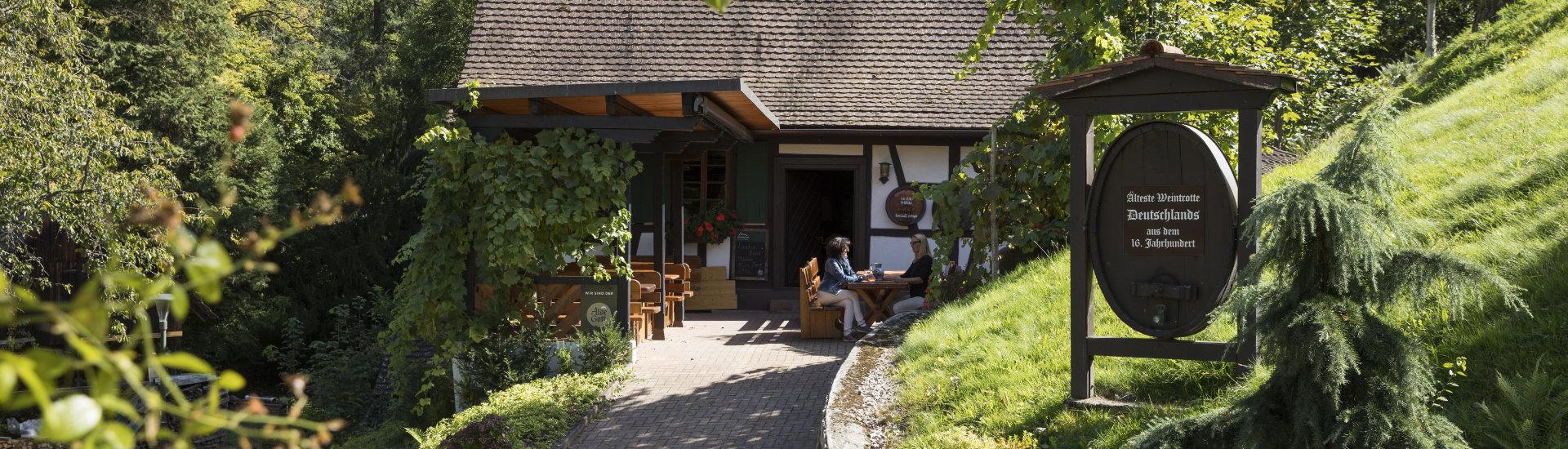 Foto: Alte Trotte in Lauf: Älteste Weintrotte Deutschlands